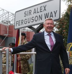 Former Manchester United manager Sir Alex Ferguson was awarded the Freedom of the Borough of Trafford on 14 October 2013 and had a road renamed in his honour. I Love Manchester, Official Manchester United Website, Manchester United Football, Go Red, Go Blue, Man Utd Fc, Man Utd News, Sir Alex Ferguson, Football Is Life