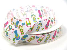 This listing is for Pastel Colored Flip Flops - Printed Grosgrain Ribbon ** This is the last yards I have left of the design** This colorful ribbon design can be made into anything your creative mind can dream up, such as: Collar And Leash, Pet Collars, Ribbon Design, Key Fobs, Grosgrain Ribbon, Pastel Colors, Hair Bows, Special Occasion, Sewing Projects