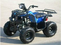 JET MOTO Series Wranger X3 125cc Sport / Utility ATV -With OVER-SIZE Tires -Fully Automatic CVT Transmission with Reverse - Upgraded Suspension -