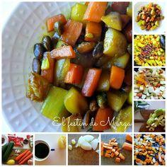 """Salteado """"al estilo oriental"""" de Calabacín y Zanahorias con Pistachos"""
