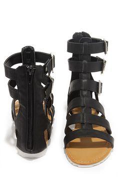 Gait Keeper Black Gladiator Sandals at Lulus.com!