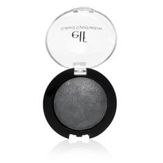 e.l.f. Studio Baked Eyeshadow in Dusk. I've been using this to contour, and it works pretty well. I was a bit nervous because it looked like it might be metallic or sparkly, but it's not.