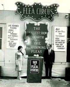 Flea Circus | Maria and John Torp, newly weds and their traveling Flea Circus,