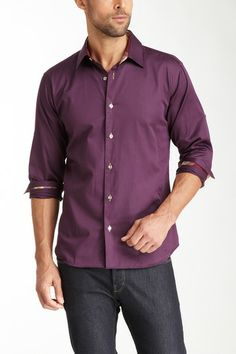 Jared Lang Long Sleeve Dress Shirt by Jared Lang on @HauteLook
