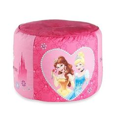 Disney Princess Tiara Jewels 15 x 15 Pouf Pillow Ottoman Pink * Visit the image link more details. Disney Princess Room, Princess Room Decor, Nursery Furniture, Kids Furniture, Disney Bedding, Princess Tiara, Bedding Collections, Girl Room, Decorative Accessories