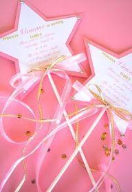 12 Custom Printed Princess Wand Invitations by EatPlanLoveShop Disney Princess Party, Cinderella Party, Princess Birthday, Princess Star, Princess Crowns, Invitation Fete, Birthday Invitations, Fairy Party Invitations, Princess Invitations