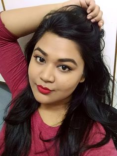 Nykaa Matte-ilicious Crayon Lipstick in Pink On Fleek and Hot As Red - BEAUTY GRIN Crayon Lipstick, Beauty Review, Hot, Pink, Face, Rose, Torrid, Faces, Vs Pink