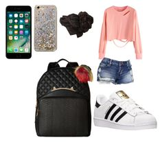 """""""school"""" by pettyallthe on Polyvore featuring beauty, Anthropologie, adidas and Betsey Johnson"""