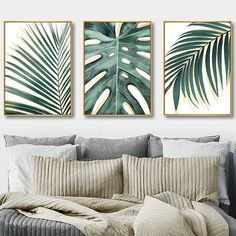 Watercolor Green Monstera Plant and Palm Leaf Canvas Print, Wall Art, Poster, Airbnb Home Decor. x 50 cm / x in) Room Wall Decor, Living Room Decor, Motif Art Deco, Plant Art, Painted Leaves, Room Paint, Art Decor, Home Decor, Printable Wall Art