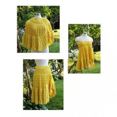 crochet shawl - convertible (becomes a skirt or dress)