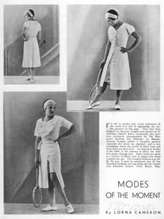 Suzanne Lenglen's Tennis Outfits for Selfridges Photographic Print - at AllPosters.com.au