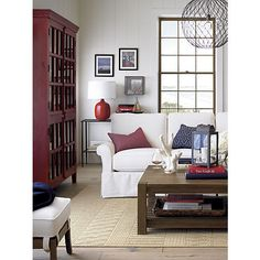 Edgewood Coffee Table in Side, Coffee Tables | Crate and Barrel
