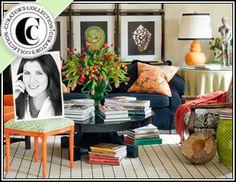 Ronda Rice Carman - Curators Collection, beige walls, black and orange accents
