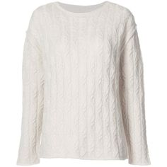 Nili Lotan Cable Knit Sweater ($675) ❤ liked on Polyvore featuring tops, sweaters, clothing /, kirna zabete, off white sweater, pure cashmere sweaters, nili lotan sweater, cashmere sweater and cable sweaters