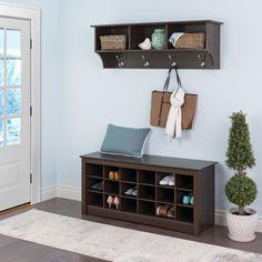 Prepac Winslow White Shoe Storage Cubbie Bench Mdf Solid
