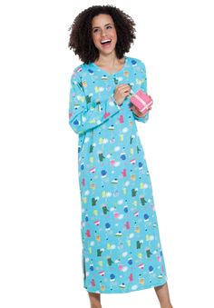 171d2d933e Holiday print sleepshirt by Dreams  amp  Co.®
