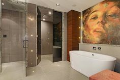 Sophisticated Bathroom Luxury Penthouse in Vancouver With Stunning Panoramic Views Worth $21,000,000
