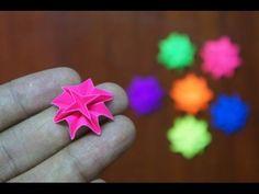 Mini Origami - How to make Mini Dahlia Flower Origami (Reuploaded) Mini Origami, Origami And Kirigami, Origami Ball, Origami Paper Art, Origami Butterfly, Modular Origami, Origami Folding, Diamond Origami, Heart Origami