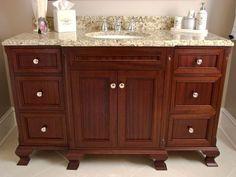 Custom Made Sapele Bathroom Vanity