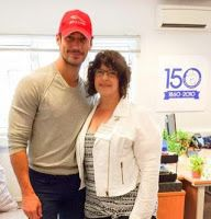 Last years BDCH auction winner enjoyed a one-on-one dogwalk with David Gandy