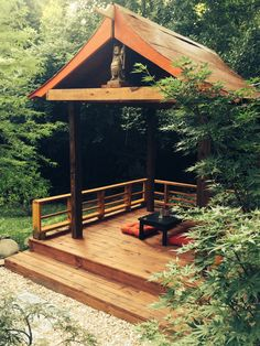 Backyard japanese azumaya tea house gazebo on elevated deck garden retreats pinterest - Gartendeko chinesisch ...