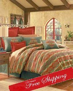 bedding picante spice comforter set w valance king - Southwest Bedding