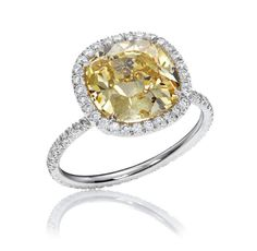The One, Yellow Diamond Micropave ring by Harry Winston
