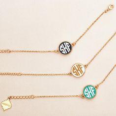 Monogrammed Soft Chain Bracelet // Fornash