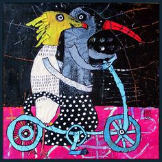 Elke Trittel Art - Page 1 - Elke Trittel Art Art Du Collage, Collages, Art Populaire, Unusual Art, Wow Art, Naive Art, Aboriginal Art, Outsider Art, Graphic Design Illustration