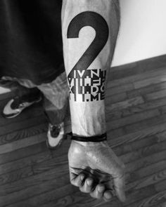 Funny Number Tattoo Designs (4):