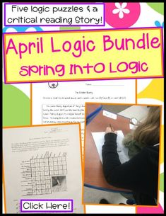Spring into April logic puzzles, ideas, & activities in printables to challenge kids for Easter holidays & more! Enhance thinking & reasoning w/ teaching problems involving math & reading for kids. The questions will provide brain learning w/ happy fun. Elementary Teacher, Upper Elementary, Elementary Education, Teaching Resources, Teaching Ideas, Challenges To Do, Teacher Helper, Logic Puzzles, Thing 1