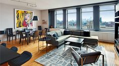 a clean design makes for fabulous digs at chelsea mercantile -  katie holmes apartment prior to the move