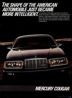 1983 Mercury Cougar ad.