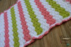 Crochet Pattern Baby Tay Ripple Afghan by CraftingFriendsDesig