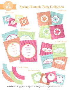 {Free Printable} Spring Party Collection