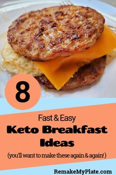 8 Fast And Easy Keto Breakfast Ideas To Save You Time! – Remake My Plate Looking for a fast and easy keto breakfast to help get you out the door in the morning? Then check out these 8 delicious recipes. Great for even non keto family members too! Ketogenic Diet Meal Plan, Ketogenic Recipes, Low Carb Recipes, Easy Fast Recipes, Meal Prep Keto, Keto Meals Easy, Ketogenic Cookbook, Easy Keto Meal Plan, Cheap Recipes