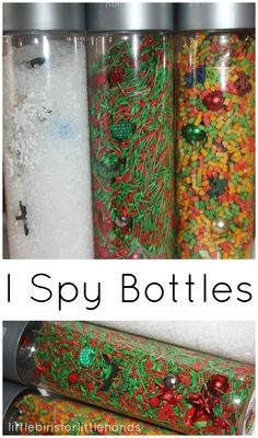 I Spy Bottle Christmas Search and Find Sensory Play