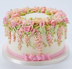 El arte de morir de hechos a mano las flores de crema de mantequilla. Oh, dulce elegancia!