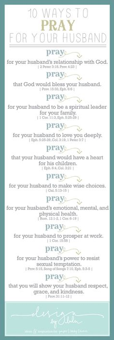 Here are 10 ideas on how to pray for the men (or women!) in your life. These are awesome!!