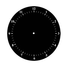 Art Clock Face Template  Clock Face Hour And Minute Marks No