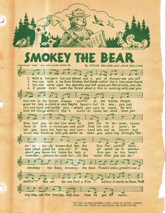 ag | Paul Murray | Flickr Summer Memories, Childhood Memories, Vintage Advertisements, Vintage Ads, Bear Songs, Smokey The Bears, Nature Posters, Bear Party, Bear Birthday