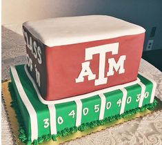 Such a fun Aggie football cake! Aggie Football, Football Stuff, Zucchini Cake, Bakery Cafe, Muffin Cups, Cake Tins, Savoury Cake, Clean Eating Snacks