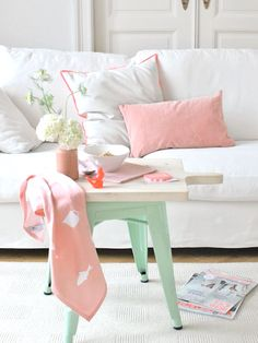 10 Rooms That Flawlessly Rock the Pink + Mint Color Trend via Brit + Co