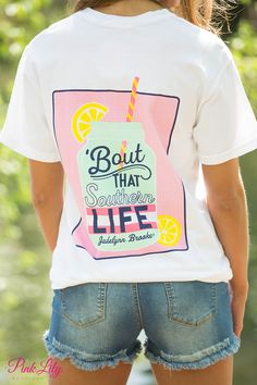 The Pink Lily Boutique - Jadelynn Brooke Southern Life Pocket Tee, $34.00 (http://thepinklilyboutique.com/jadelynn-brooke-southern-life-pocket-tee/)