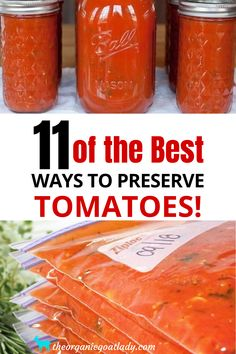 Freezing Vegetables, Canning Vegetables, Fruits And Veggies, Preserving Tomatoes, Canning Tomatoes, Preserving Food, Storing Tomatoes, Home Canning Recipes, Canning Tips