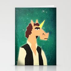 There aren't enough Unicorns in your life.  Stationery Cards