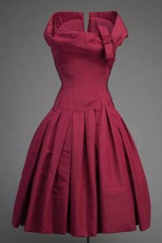 1954 Cocktail Dress Christian Dior The Chicago History Museum