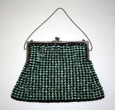 Bag, Evening  Date: 1925–35 Culture: French (probably) Medium: glass, metal