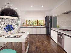 Zdjęcie projektu Niko BSE1079 Kitchen Island, Kitchen Cabinets, Sweet Home, Table, Furniture, Home Decor, Home Plans, Plants, House
