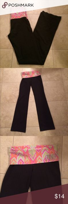 "$9 vs pink yoga pants Great condition!✔The price in the beginning of the title of my listings is the bundle price. These prices are valid through the ""make an offer"" feature after you create a bundle. These bundle orders must be over $15. Ask me about more details if interested.  ❌No trades ❌No holds PINK Victoria's Secret Pants"